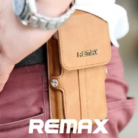 REMAX Outdoor Pedestrian Leather Waist Case Bag