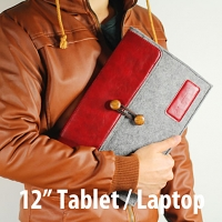 Universal Leather Case with buttons for 12 inch Tablets / Laptop