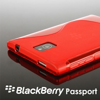 BlackBerry Passport Wave Plastic Back Case