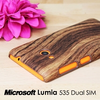 Microsoft Lumia 535 Dual SIM Woody Patterned Back Case