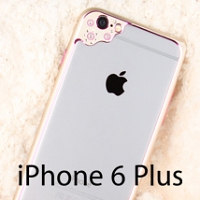 Diamond Camera Design Metal Bumper for iPhone 6 Plus