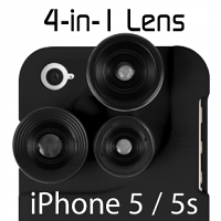 iPhone 5/5s 4-in-1 Lens Case