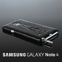 Samsung Galaxy Note 4 Crocodile Leather Back Case