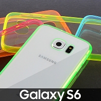 Samsung Galaxy S6 Soft Case with Fluorescent Bumper