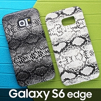 Samsung Galaxy S6 edge Faux Snake Skin Back Case