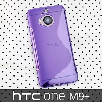 HTC One M9+ Wave Plastic Back Case