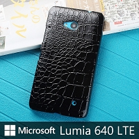 Microsoft Lumia 640 LTE Crocodile Leather Back Case