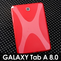 Samsung Galaxy Tab A 8.0 X-Shaped Plastic Back Case