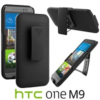 HTC One M9 Protective Case with Holster