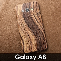 Samsung Galaxy A8 Woody Patterned Back Case