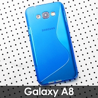 Samsung Galaxy A8 Wave Plastic Back Case