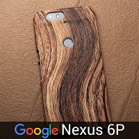 Google Nexus 6P Woody Patterned Back Case
