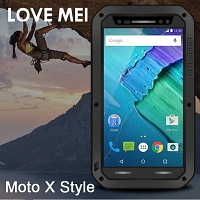 LOVE MEI Motorola Moto X Style Powerful Bumper Case