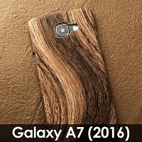 Samsung Galaxy A7 (2016) A7100 Woody Patterned Back Case