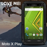 LOVE MEI Motorola Moto X Play Powerful Bumper Case