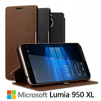Imak Leather Case for Microsoft Lumia 950 XL