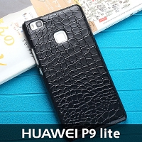 Huawei P9 lite Crocodile Leather Back Case
