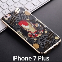 iPhone 7 Plus Iron Man Electroplating Color Carving Case