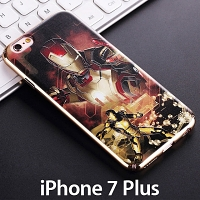 iPhone 7 Plus Iron Man Classic Electroplating Color Carving Case