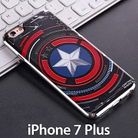 iPhone 7 Plus Captain America Shield Electroplating Color Carving Case