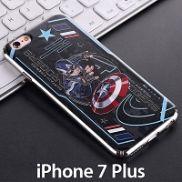 iPhone 7 Plus Captain America Electroplating Color Carving Case