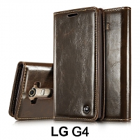 LG G4 Magnetic Flip Leather Wallet Case