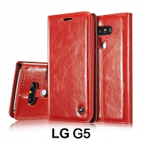 LG G5 Magnetic Flip Leather Wallet Case