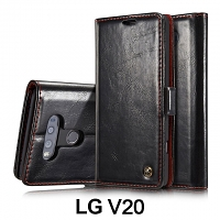 LG V20 Magnetic Flip Leather Wallet Case