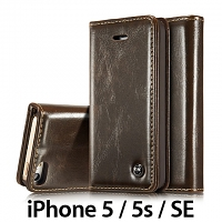 iPhone 5 / 5s / SE Magnetic Flip Leather Wallet Case