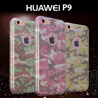 Huawei P9 Camouflage Glitter Soft Case
