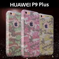Huawei P9 Plus Camouflage Glitter Soft Case