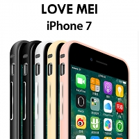 LOVE MEI iPhone 7 Curved Metal Bumper