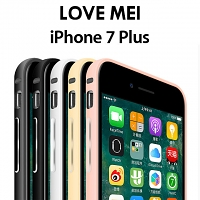 LOVE MEI iPhone 7 Plus Curved Metal Bumper