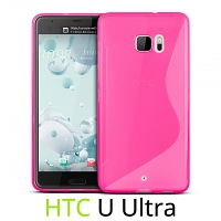 HTC U Ultra Wave Plastic Back Case