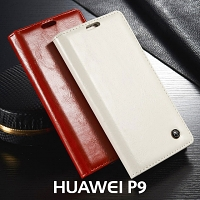 Huawei P9 Magnetic Flip Leather Wallet Case