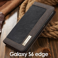 Samsung Galaxy S6 edge Jeans Leather Wallet Case