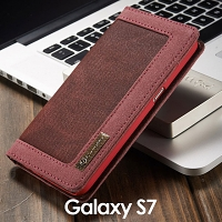 Samsung Galaxy S7 Jeans Leather Wallet Case