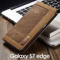Samsung Galaxy S7 edge Jeans Leather Wallet Case