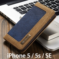 iPhone 5 / 5s / SE Jeans Leather Wallet Case