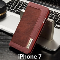 iPhone 7 Jeans Leather Wallet Case