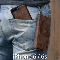 iPhone 6 / 6s Metal Buckle Zipper Wallet Folio Case