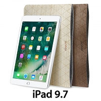 Wood Leather Pouch for iPad 9.7