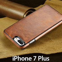 iPhone 7 Plus Ultrathin Calfskin Leather Back Case
