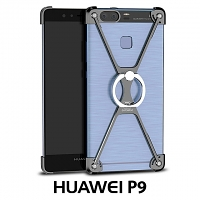Huawei P9 Metal X Bumper Case with Finger Ring