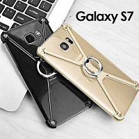 Samsung Galaxy S7 Metal X Bumper Case with Finger Ring