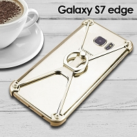 Samsung Galaxy S7 edge Metal X Bumper Case with Finger Ring