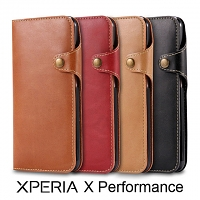 Leather Flip Card Case for Sony Xperia X Performance