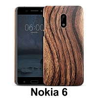 Nokia 6 Woody Patterned Back Case