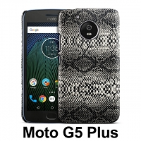 Motorola Moto G5 Plus Faux Snake Skin Back Case