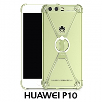 Huawei P10 Metal X Bumper Case with Finger Ring